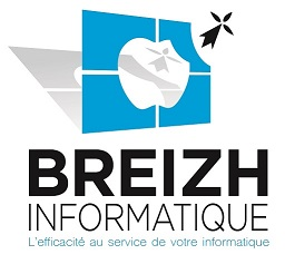 Logo Breizh Informatique, entreprise mettant toute son efficacité au service de votre informatique