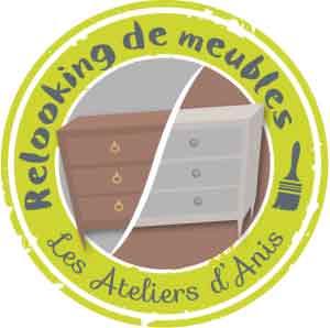 Logo l'Atelier d'Anis propose de ne pas jeter vos vieux meubles ou votre cuisine rustique, mais plutôt de les relooker !