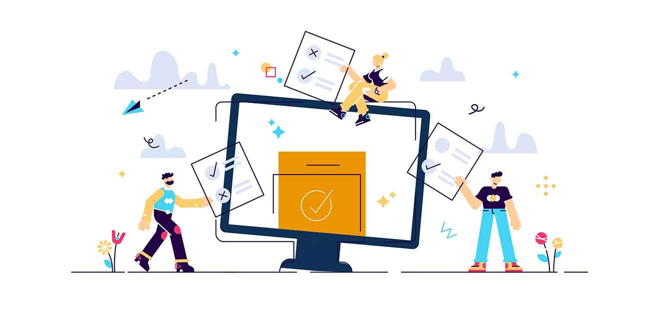 Illustration de formulaire en ligne pour faire une demande de livraison